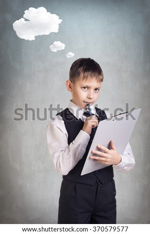 Business boy in suit  - stock photo