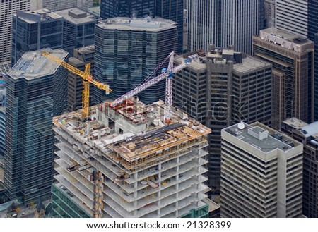 business building construction - stock photo