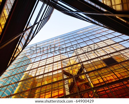 business building exterior - stock photo