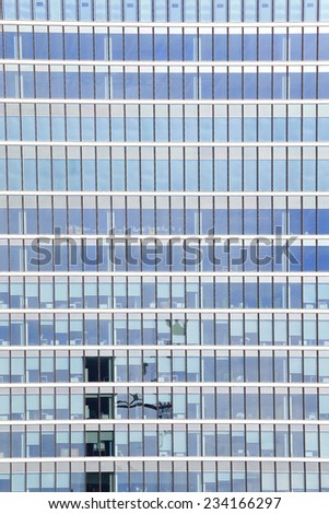 Business building, shot in Canary Wharf financial district in London, United Kingdom, uk - stock photo
