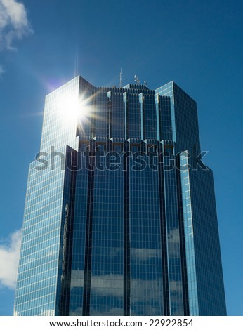 business building with natural flare - stock photo