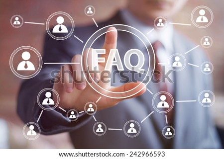 Business button FAQ connection web communication - stock photo