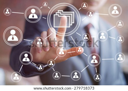 Business button file icon online sign. - stock photo