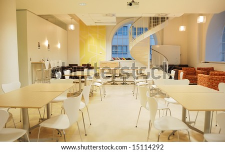 business cafeteria - stock photo
