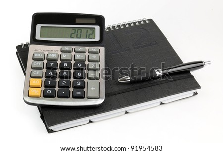 Business calculations for 2012 year - stock photo