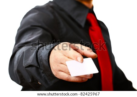 business card. Copy space for your own text. - stock photo