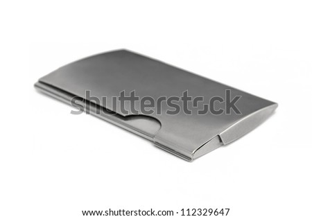 Business card holder - stock photo