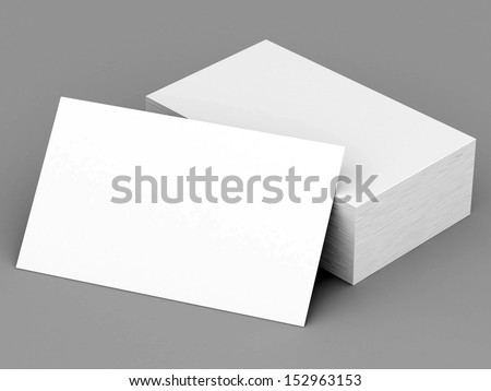 Business cards blank mockup - template - gray background - stock photo