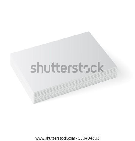 Business cards isolated  - stock photo