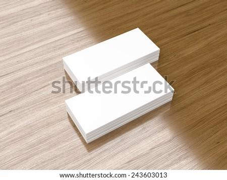 Business cards mini blank mockup - template  - stock photo