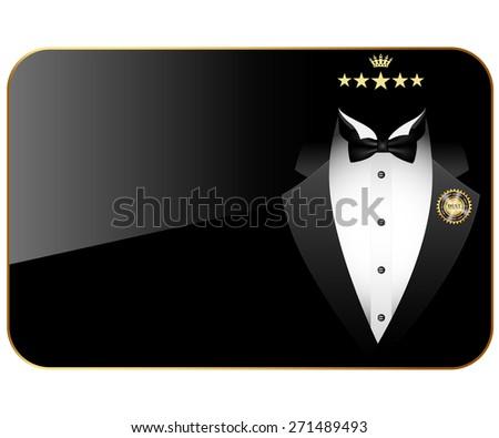 Business cards premium quality. Illustration.  - stock photo