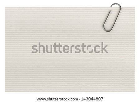 business cards with paper clip isolated on white background - stock photo
