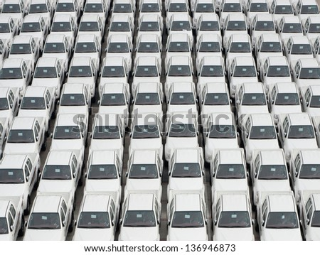 Business cars at the Auto park - stock photo