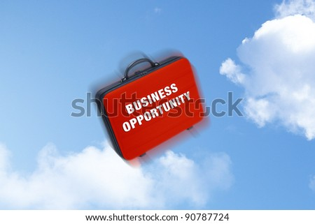 Business case falling wrote on it  Business Opportunity - stock photo