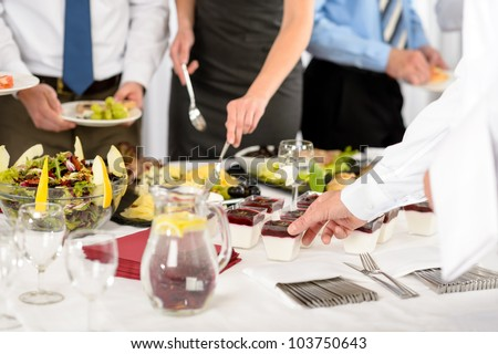 Business catering food for company formal celebration close-up - stock photo