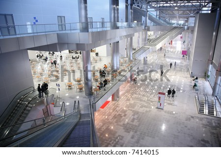 business center top view - stock photo