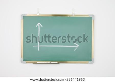 Business chart drawn on a blackboard - stock photo