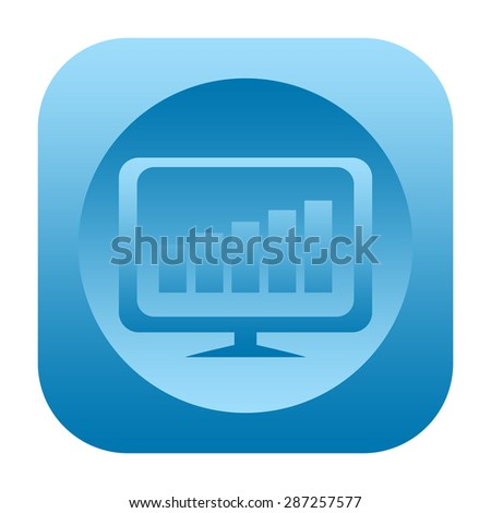 Business chart icon - stock photo