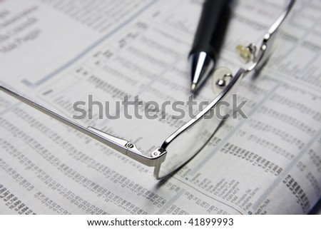 business chart showing financial - stock photo