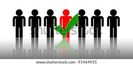 business chosen people - stock photo