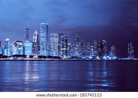 Business City (Chicago) - stock photo