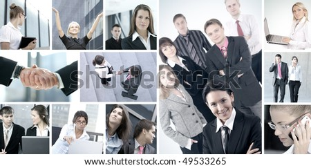Business collage made of some pictures - stock photo