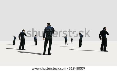 business communication - stock photo