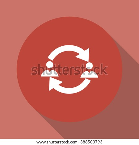 Business communication. Conceptual illustration. Profile users connected icon. Social icons. Men exchanging symbol - stock photo