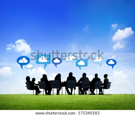 Business Communications at Table - stock photo