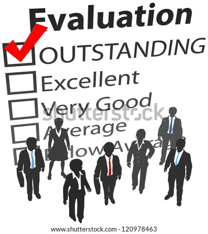 Business company people outstanding human resources evaluation - stock photo