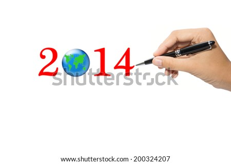 Business Concept 2014  - stock photo