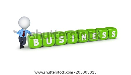 Business concept. concept.Isolated on white.3d rendered. - stock photo