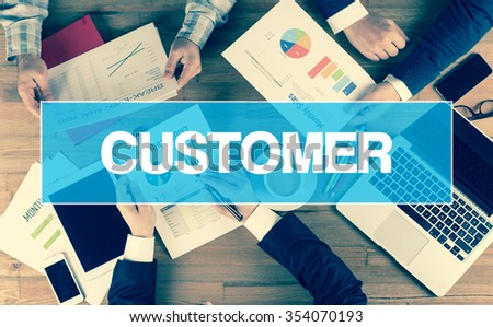 Business Concept: CUSTOMER - stock photo