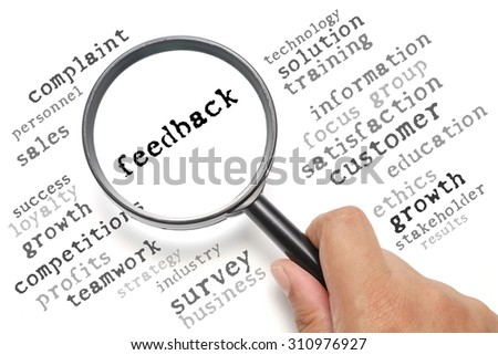 Business concept, customer satisfaction focusing on Feedback - stock photo