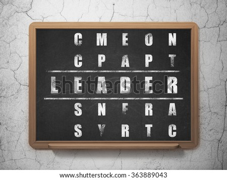 Business concept: Leader in Crossword Puzzle - stock photo