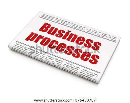 Business concept: newspaper headline Business Processes - stock photo