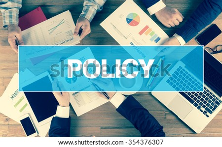 Business Concept: POLICY - stock photo