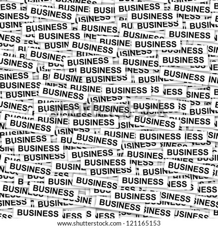 Business Concept Present By Group of Business Label Background - stock photo