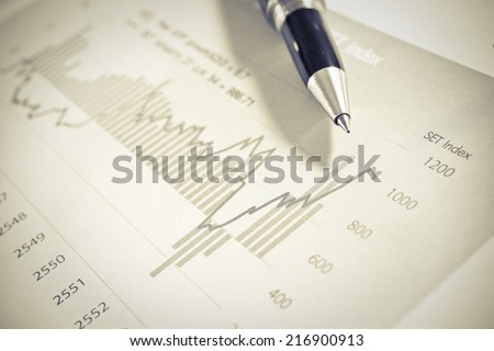 Business Concept,trend of the stock  - stock photo
