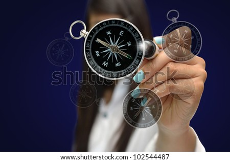 Business concept with  business person , modern style. - stock photo