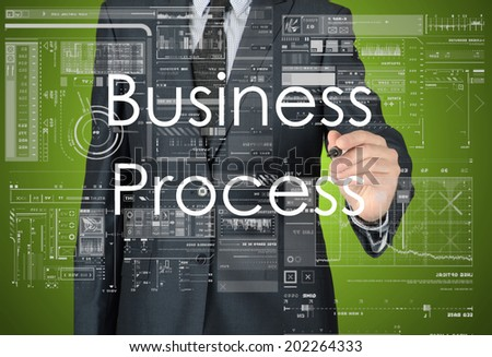 Business Concepts. Business process - stock photo