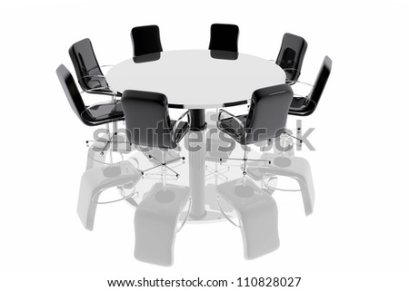 Business conference table - stock photo