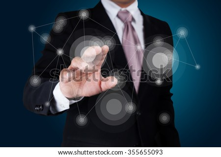 Business connection concept. - stock photo