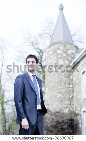 Business conquest - stock photo
