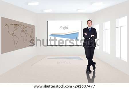 Business consultant standing at office - stock photo