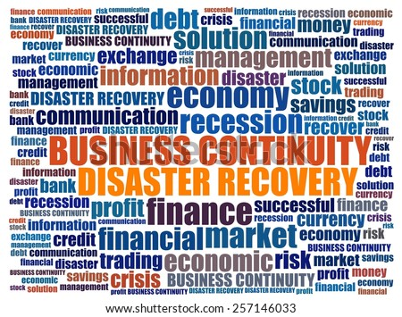 Business Continuity in word collage - stock photo