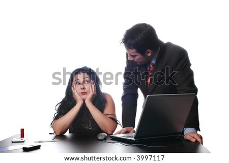 Business conversation in a room of office... - stock photo