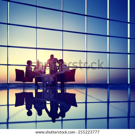 Business Corporate People Meeting Discussion Team Concept - stock photo