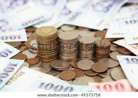 business Currency Taiwan Currency - stock photo