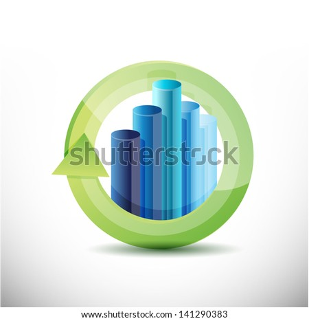 business cycle illustration design over a white background - stock photo
